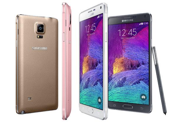 El Galaxy Note 4 viene en diferentes colores