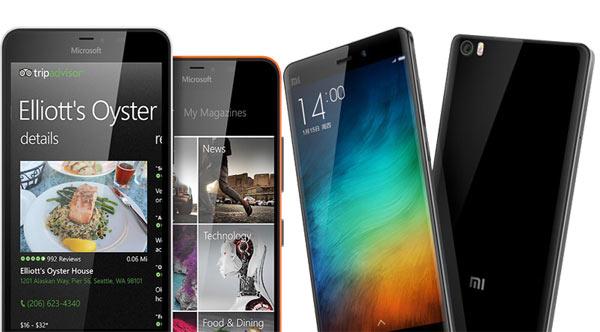 Microsoft Lumia 640 y Xiaomi Mi Note Pro