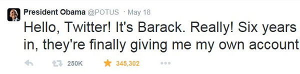 Obama primer tweet